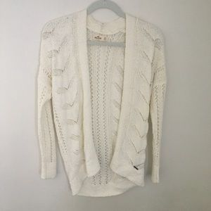 White Knit Cardigan from Hollister